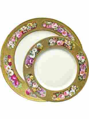 11 Limoge Dinner Plates and Charger c.1900