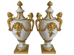 French 19th.c Carrera Marble and Gilt Bronze Cassoulet