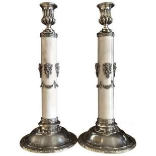 American Sterling and Marble Candlesticks by Towle