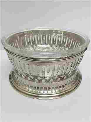 American Brilliant Cut Bowl w/ Sterling Liner by Gorham