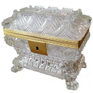 French Charles X Glass Box ca.1840