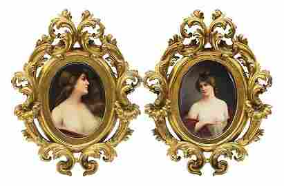 Pair of KPM Plaques signed Wagner 19thc