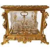 "French Gilt Bronze ""Mantalus"" Set, 19th Century"