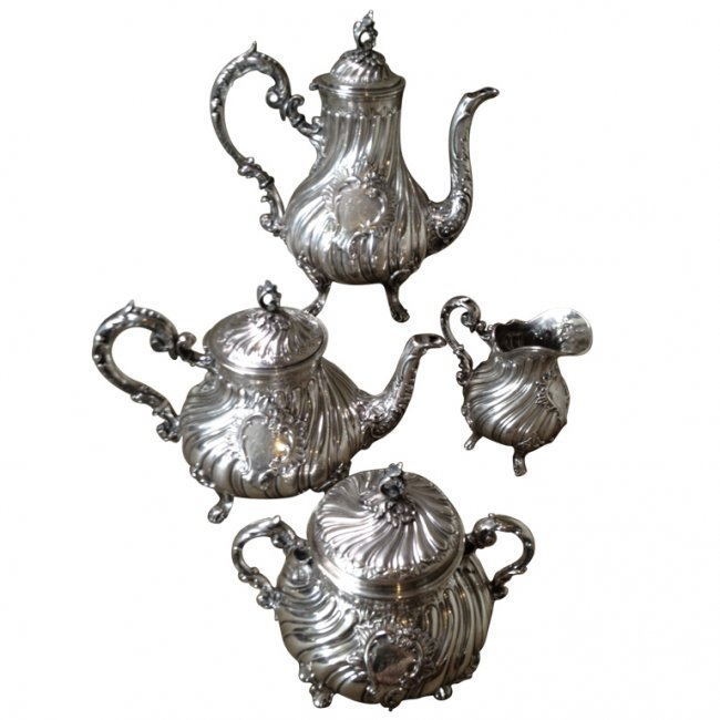 Fine 19thc. French Silver Tea Set