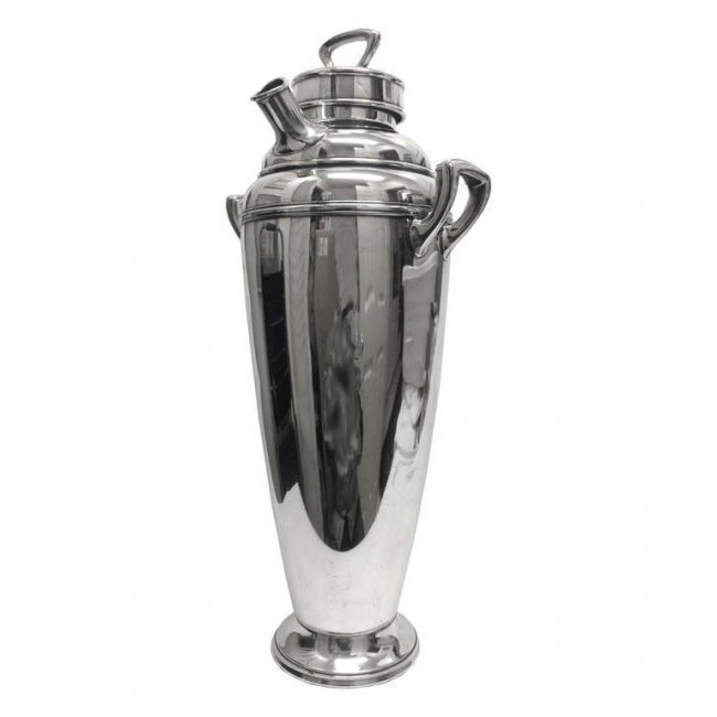 Silver Plated Martini Shaker by Wallace, Mid-Century,