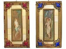 Art Nouveau Miniature Paintings c1900