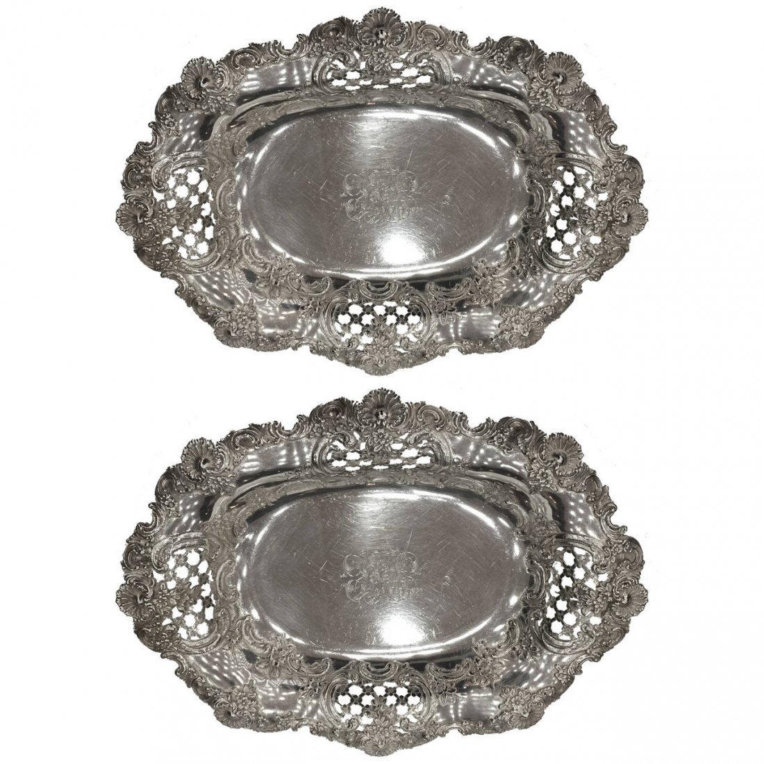 Pair of Tiffany and Co. Sterling Garniture Bowls 1920s