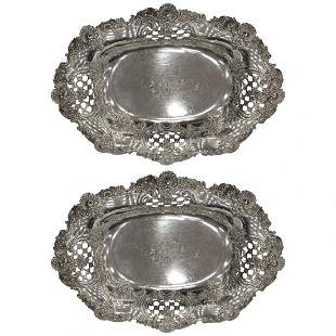 Tiffany and Co. Sterling Silver Garniture Bowls 1900