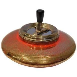 Mid-Century Modern Swivel Function Ceramic Ashtray,