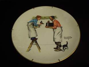 American Normrochwell Antique Plate 20th Century
