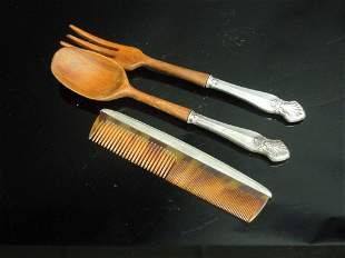 Anituqe Silver cutleries and comb