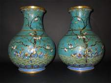 MATCHED PAIR OF LARGE ANTIQUE CHINESE VASES