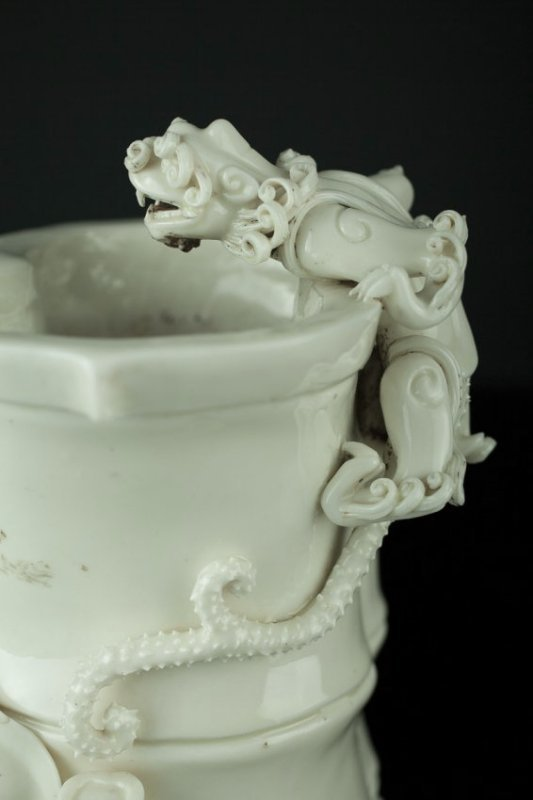Antique Chinese Blanc de Chine Brush Pot