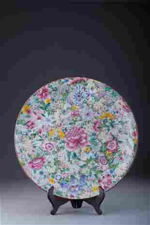 Antique Chinese Famille Rose Charger