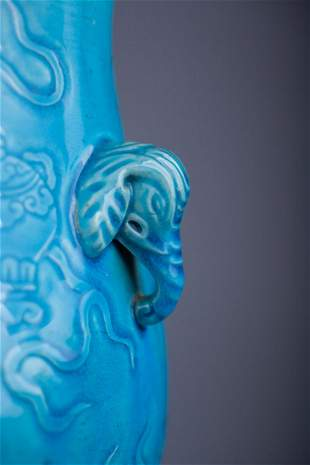 Antique Porcelain Vase -Elephant handles Chinese