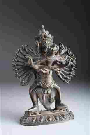 Antique Chinese Bronze Tibetan Buddha