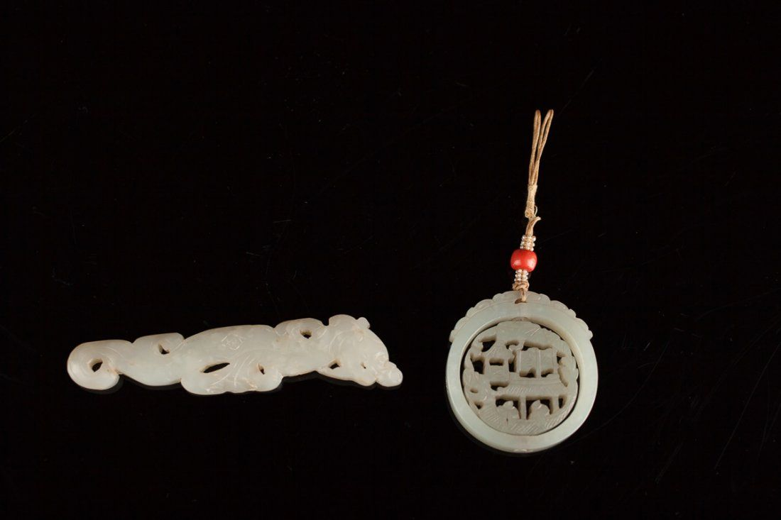 Antique White Jade pendants - Maryland Collection