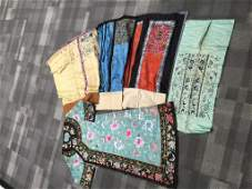 (5 pcs) Antique Chinese Embroidery Robe and Skirts