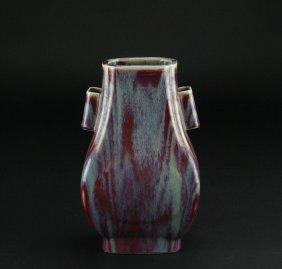 Antique Chinese Porcelain Handle Vase