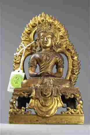 Antique Chinese gilt Bronze Buddha Sotheby's