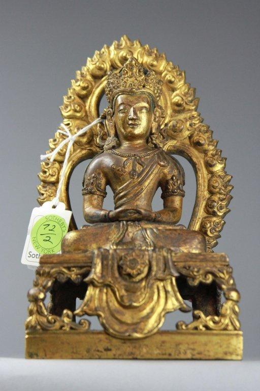 Antique Chinese gilt Bronze Buddha Sotheby's
