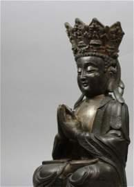 "Antique Chinese Gorgeous Bronze Buddha H 21 1/2"""