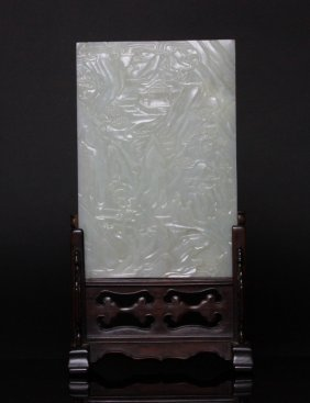 Antique Chinese White Jade Table Screen Sotheby's
