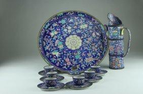 Antique Chinese Enamel Tea Sets