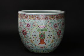 Antique Chinese Famille Rose Jardinere