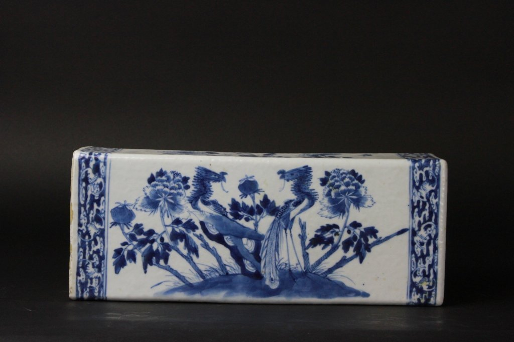 Antique Chinese B/W Porcelain pillow