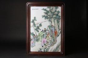 Antique Chinese Porcelain Plaque
