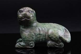 Chinese Hard Stone Carving Of Foo Dog