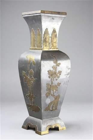 Chinese Pewter Vase