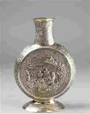 Chinese Export Silver Vase
