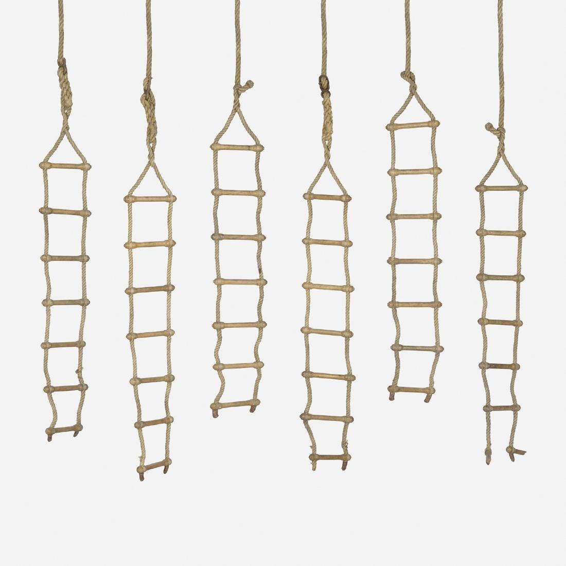Czechoslovakian, rope ladders, set of six