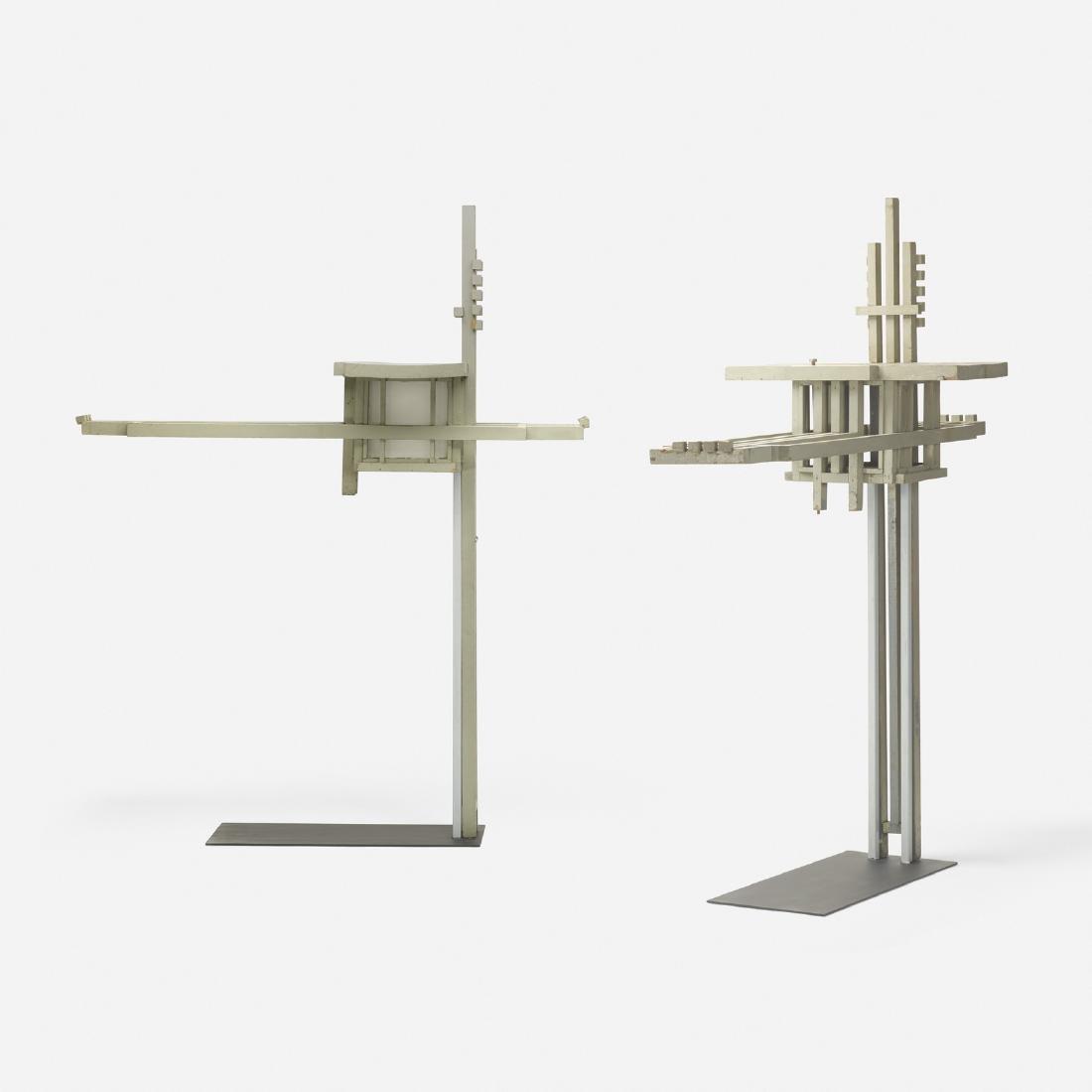 Frank Lloyd Wright, pair of exterior light fixtures