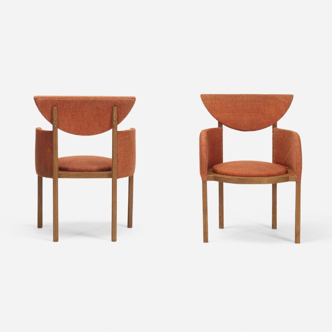 Frank Lloyd Wright, armchairs pair, Riverview Terrace