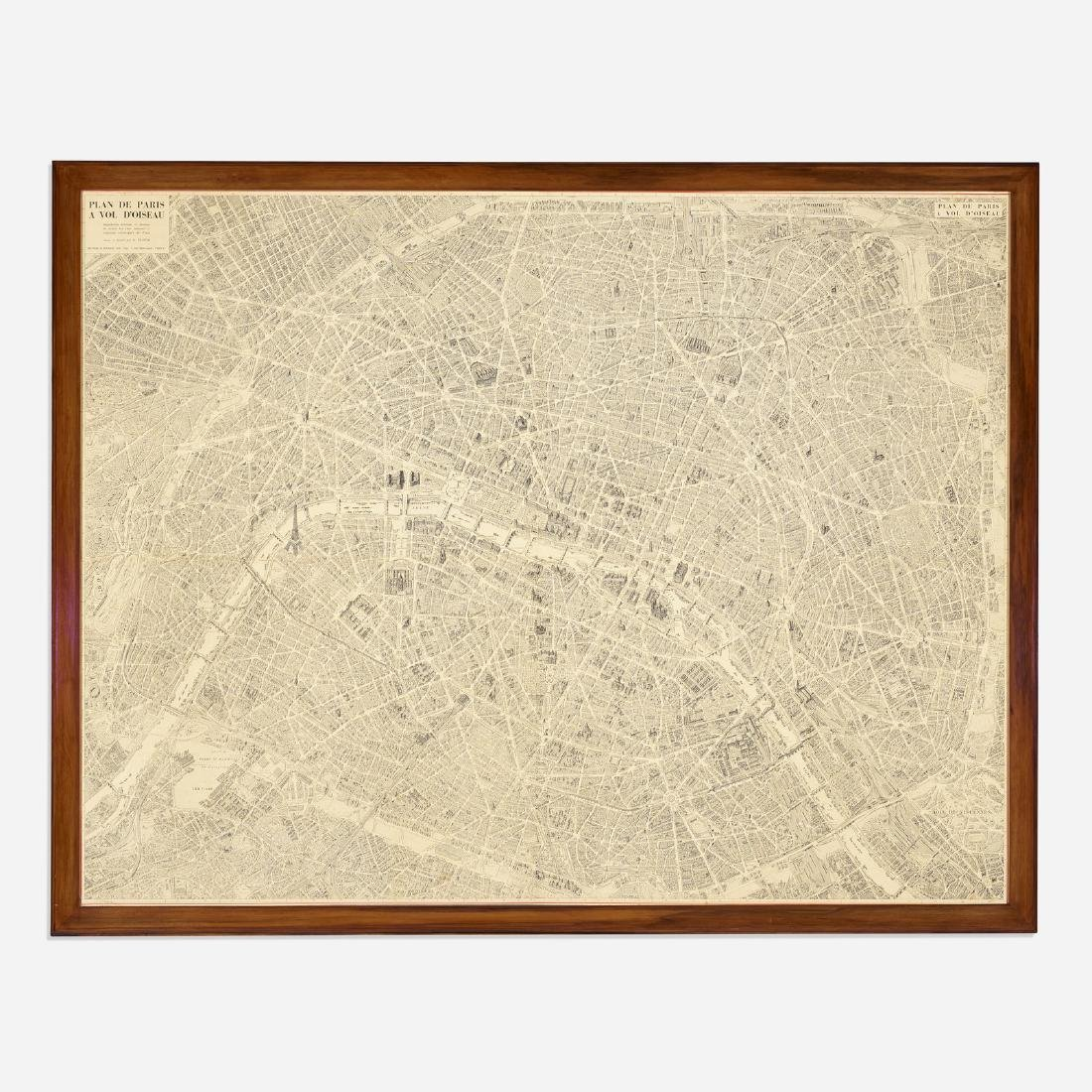 French, monumental map of Paris