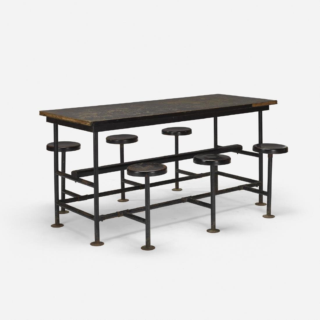 American, cafeteria table