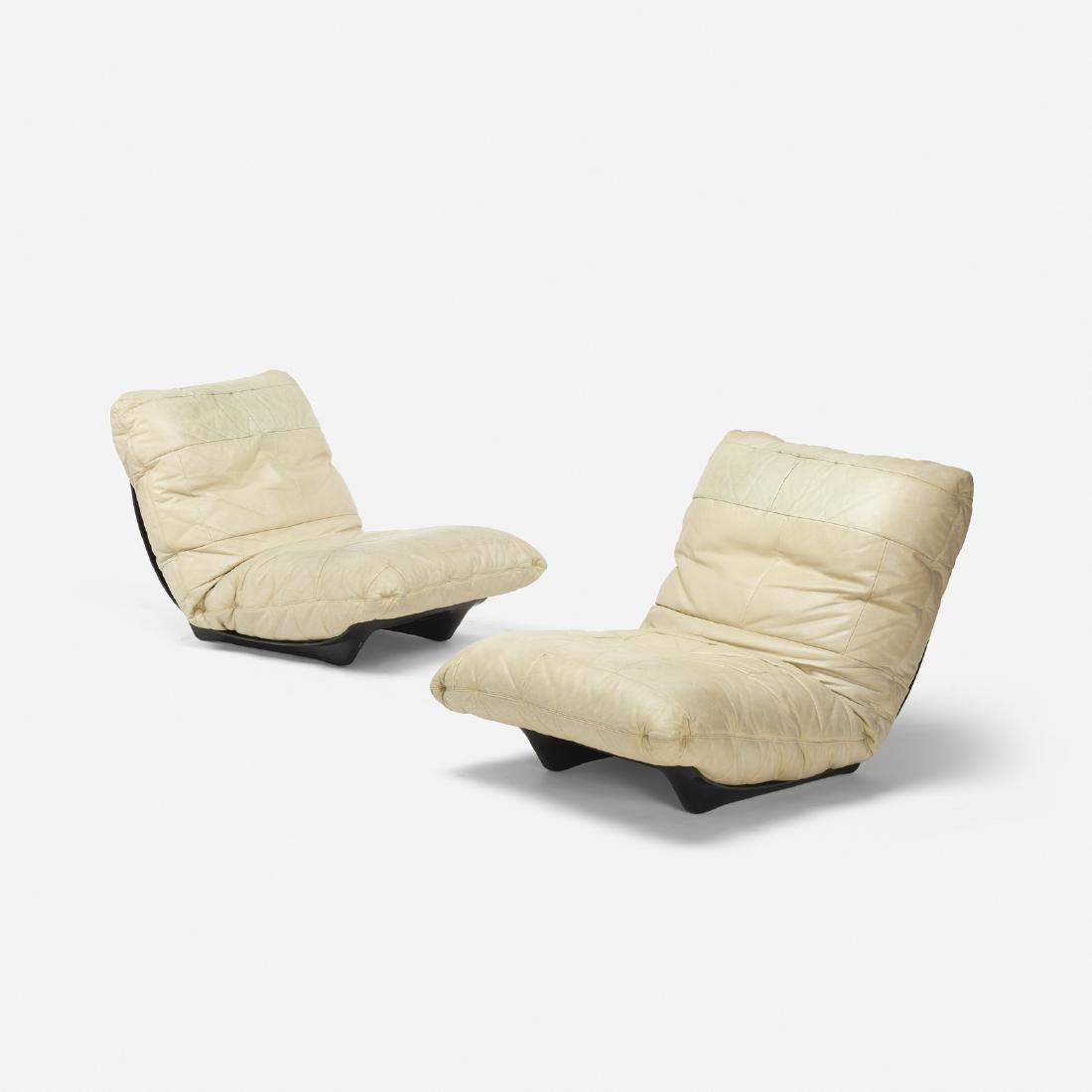 Italian, lounge chairs, pair