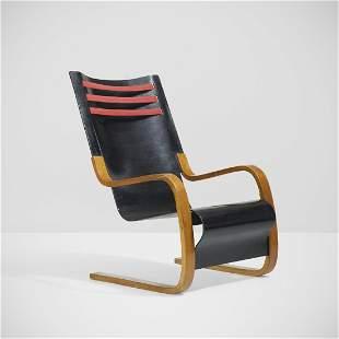 Alvar Aalto, Rare high back chair, model 402