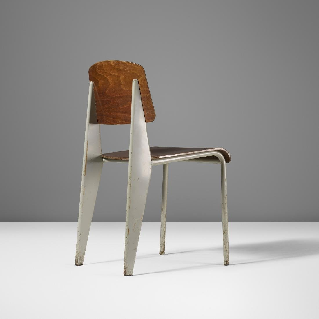 Jean  Prouve, 'Semi-metal' chair model no. 305 from the