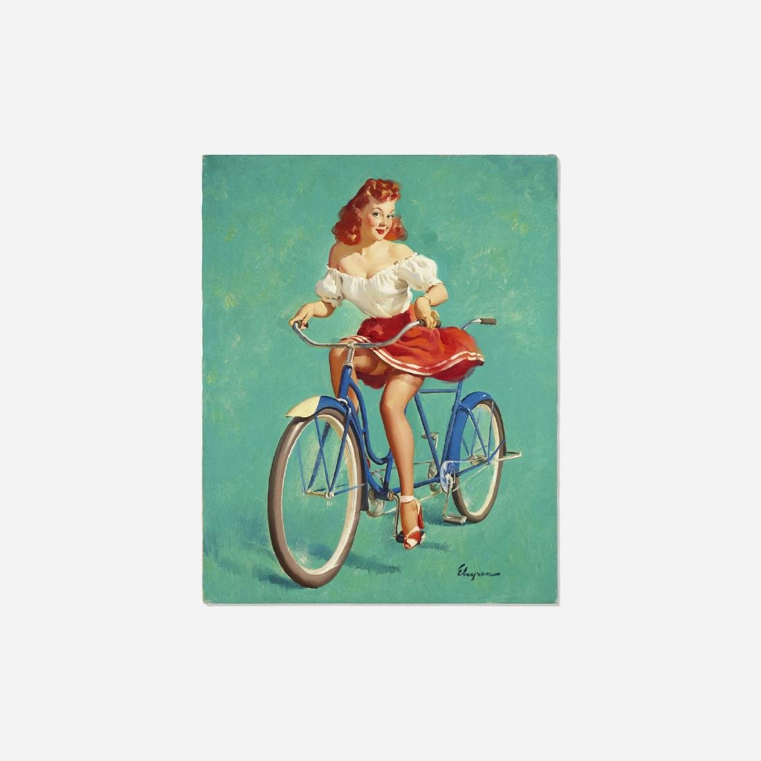 Gil Elvgren, This Bicycle's Built for Woo