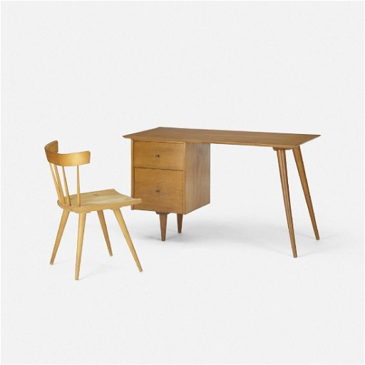 Paul Mccobb Planner Group Desk 1560 And Chair 1531