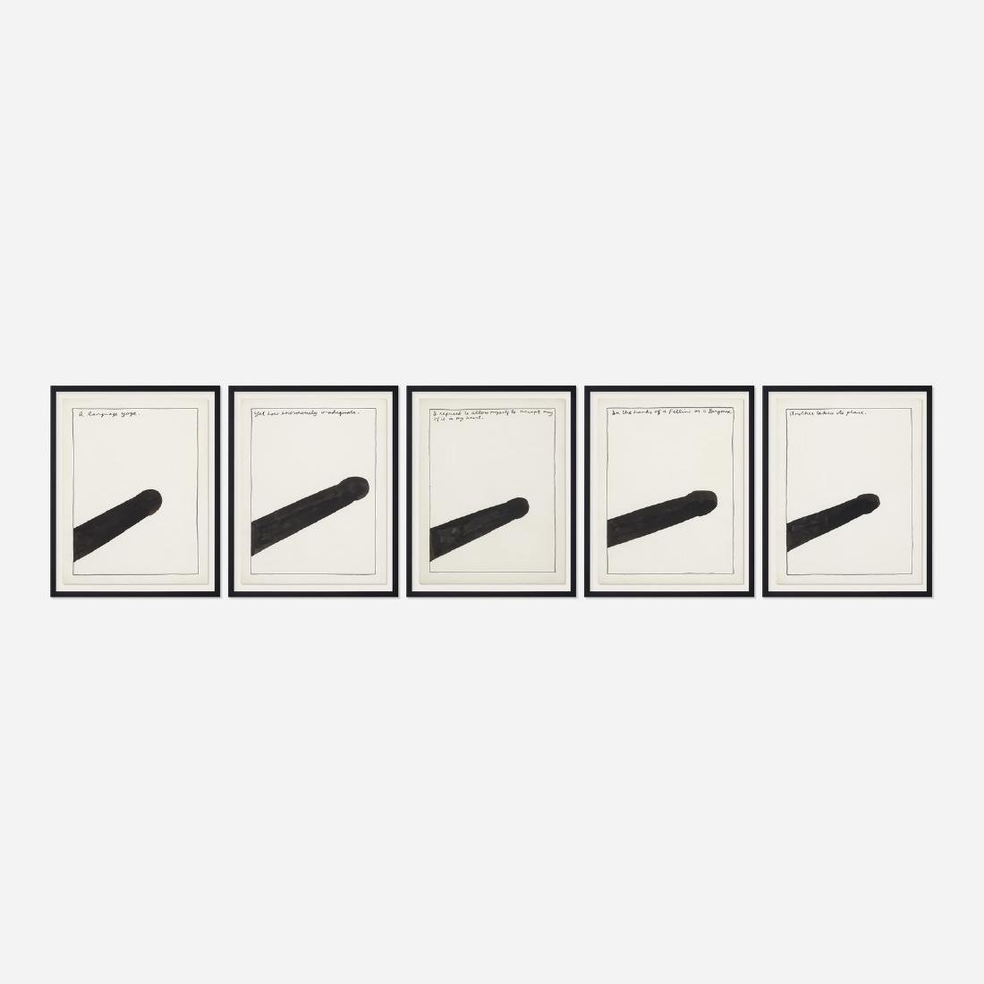Raymond Pettibon, Untitled (five works)