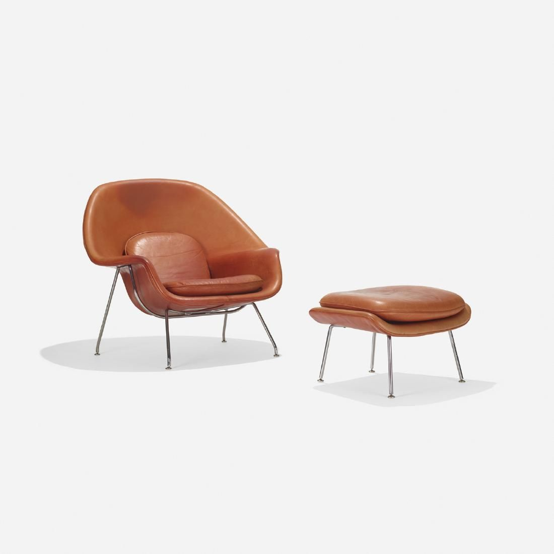 Eero Saarinen, Rare Womb chair and ottoman