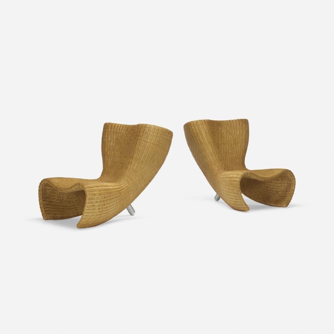 Marc Newson, Wicker chairs, pair