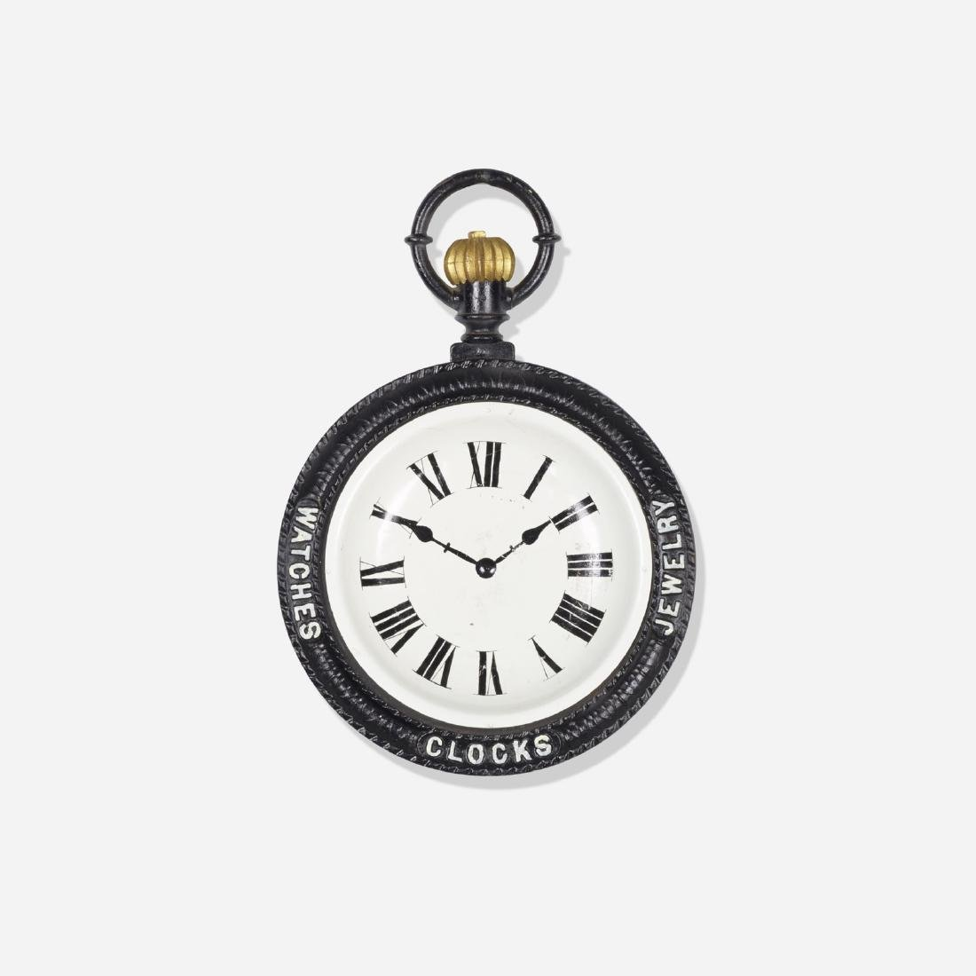 American, pocket watch trade sign