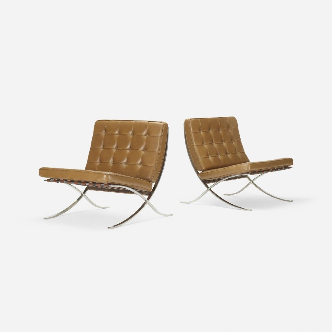 Ludwig Mies van der Rohe, Barcelona chairs, pair