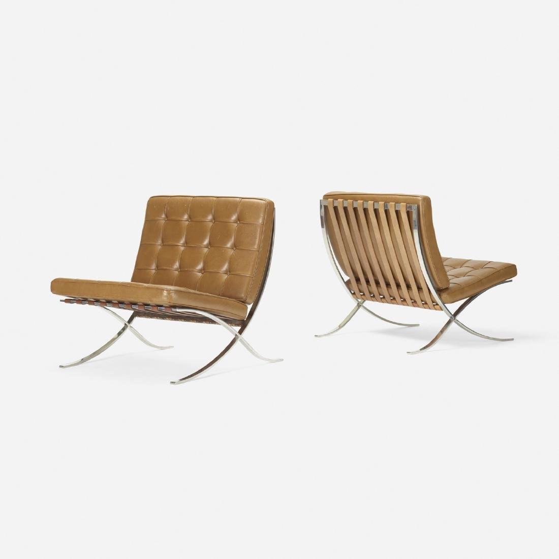 Ludwig Mies van der Rohe, Barcelona chairs, pair - 2